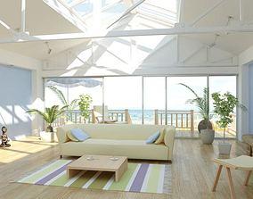 3D model Seaside Villa Living Room