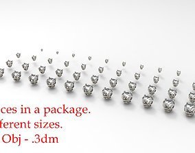 Jewelry Prong Head Set Package 013 3D print model