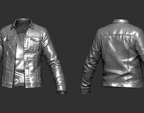 3D model character Denim Jacket