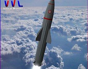 PRITHV II Ballistic Missile 3D model