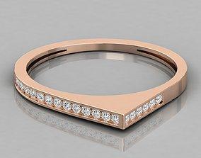 Women solitaire ring 3dm stl render detail brilliant