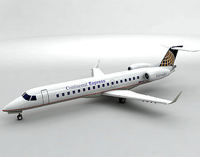 Embraer ERJ 145 - Continental Express 3D model