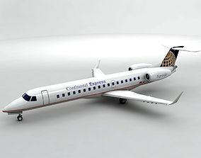 Embraer ERJ 145 - Continental Express 3D model