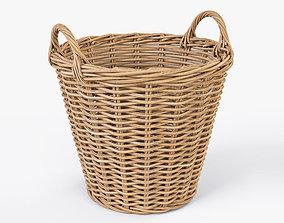 Wicker Basket 08 3D