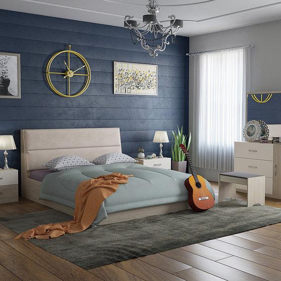bedroon , wooden bed set