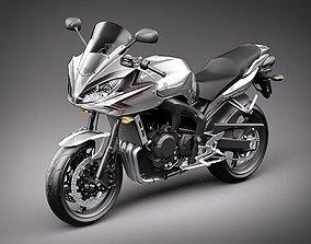 Yamaha FZ-6 Fazer 2008-2009 Motorcycle 3D Model