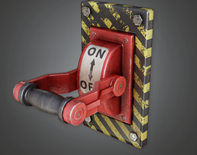 IND - Industrial Power Switch - PBR Game Ready 3D model