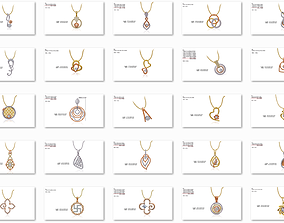 150 Pendant Jewelcad File print model bulk collection
