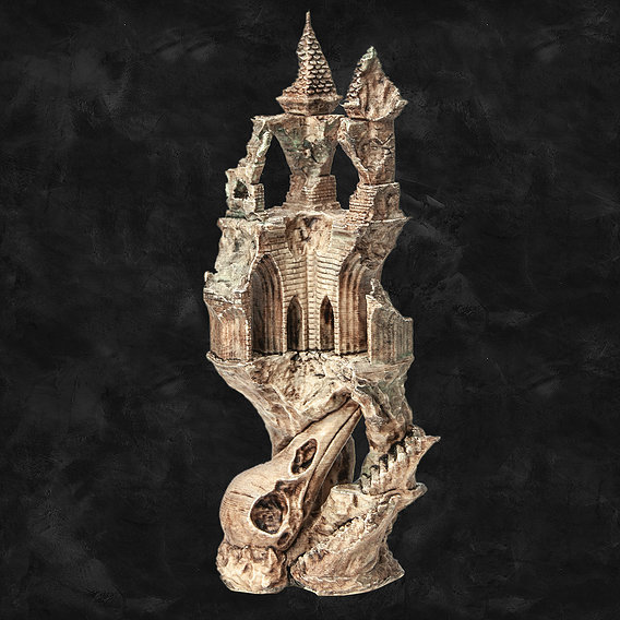 Ancient Raven Castle - 3D Printable model