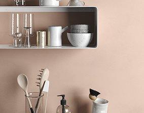 dispenser Kitchenware Set 3D