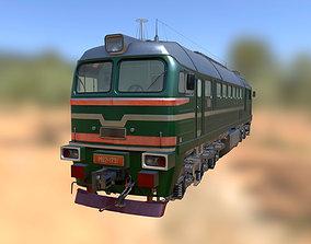 Soviet M62 locomotive 3D model
