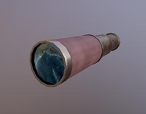 3D asset Low Poly Telescope