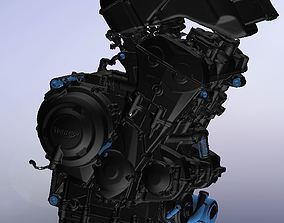 Triumph 675 engine from scan 3D print model