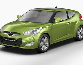 3D model 2012 Hyundai Veloster