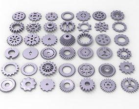 Gears kitbash 3D asset