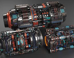 Sci Fi Mega Elements KITBASH - SUBDIVISION READY - pack 3D