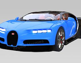 3D asset Bugatti Chiron Super Car