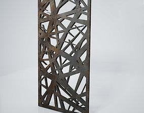 3D model Low-poly CNC panel Lines sharp lattice