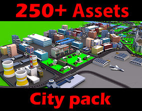 3D asset low-poly SimplePoly City GTA sa style