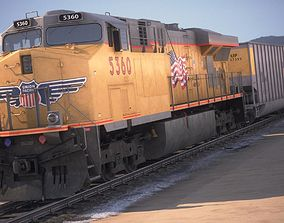 3D Modern Union Pacific Train