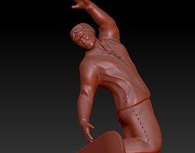 3D print model pendant snowboarder