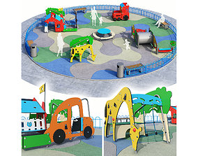 3D territory Children playground 3
