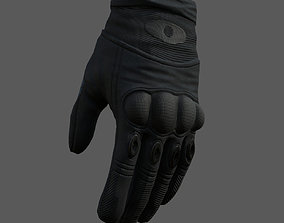 realtime Gloves Sci-fi military fantasy combat 3d model 1