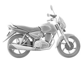 3D model Motorcycle CB Shine