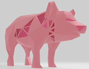 3D printable model Polygonal Pig Parametric