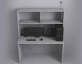 3D asset game-ready Computer Desk