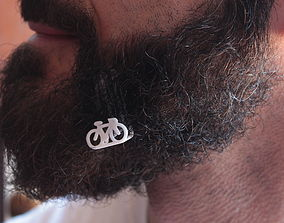 3D print model Bike for beard - lateral wearing