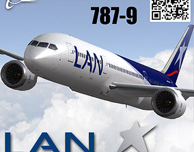 Boeing 787-9 LAN airlines livery 3D asset