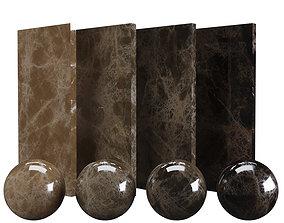 3D asset Brown Casa Emperador Marble Texture PBR Vray 4