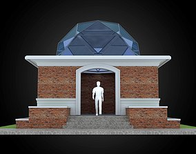3D model Dome 6x incl base structure with entry opening