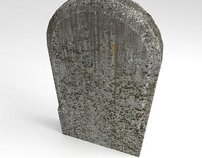 3D asset Gravestone 3