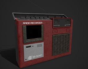 3D asset Old Radio PBR Textured