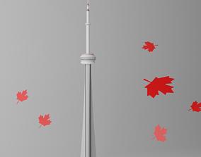 3D model Lovely CN Tower Toronto