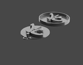 3D print model coin letter art