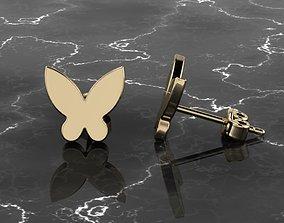 Jewelry Earring Butterfly Shape 3D print model