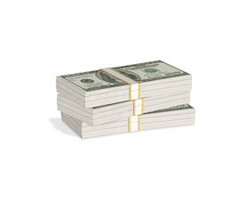Money Stack 3D model
