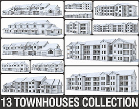 Townhouses Collection 3D model