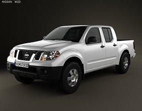 3D Nissan Frontier Crew Cab Short Bed 2012