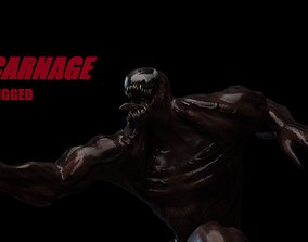 CARNAGE RIGGED MODEL 3D asset animated
