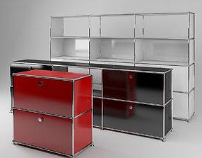 3D model USM modular metal cabinets