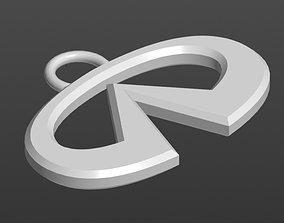 3D print model Logo Infiniti Keychain