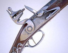 Flintlock musket retro 3D