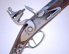 handgun Flintlock musket 3D
