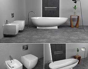 Furniture bathroom set 2 3D model