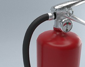 Fire Extinguisher 3D asset game-ready PBR