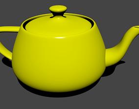 Yellow Teapot 3D model